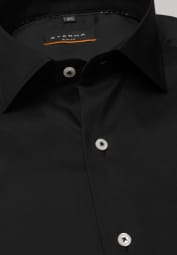 ETERNA LANGE MOUW OVERHEMD SLIM FIT PERFORMANCE SHIRT STRETCH ZWART UNI