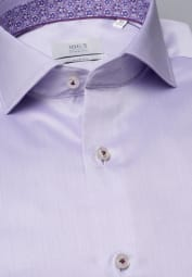 ETERNA LANGE MOUW OVERHEMD SLIM FIT GENTLE SHIRT TWILL LILA UNI