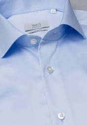 ETERNA LANGE ARM HEMD SLIM FIT GENTLE SHIRT TWILL LICHTBLAUW UNI