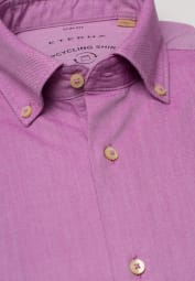 ETERNA LANGE MOUW OVERHEMD SLIM FIT UPCYCLING SHIRT OXFORD FUCHSIA UNI
