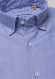 ETERNA LANGE MOUW OVERHEMD REGULAR FIT UPCYCLING SHIRT OXFORD BLAUW UNI