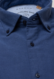 ETERNA LANGE MOUW OVERHEMD MODERN FIT UPCYCLING SHIRT OXFORD BLAUW UNI