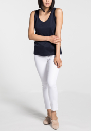 ETERNA TOP/ TANK TOP MARINEBLAUW UNI