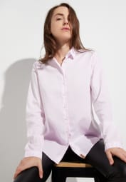 ETERNA LANGE MOUW BLOUSE MODERN CLASSIC UPCYCLING SHIRT OXFORD ROOS UNI