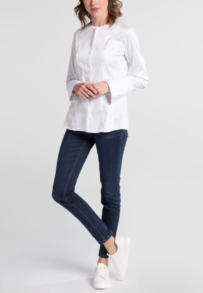 ETERNA LANGE MOUW BLOUSE SLIM FIT WIT UNI
