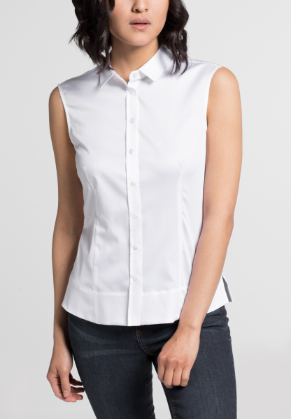 ETERNA ZONDER MOUW BLOUSE SLIM FIT WIT UNI