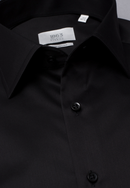 ETERNA LANGE ARM HEMD COMFORT FIT GENTLE SHIRT TWILL ZWART UNI