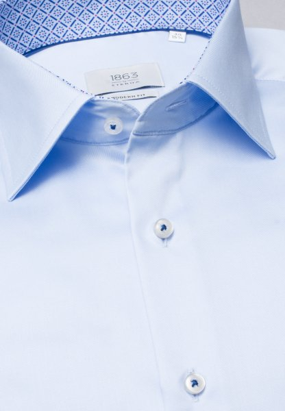 ETERNA LANGE ARM HEMD MODERN FIT GENTLE SHIRT TWILL LICHTBLAUW UNI