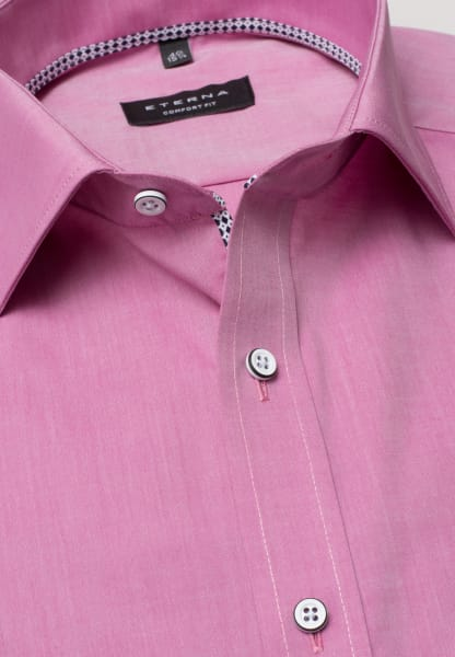 ETERNA KORTE ARM HEMD COMFORT FIT CHAMBRAY ROZE UNI