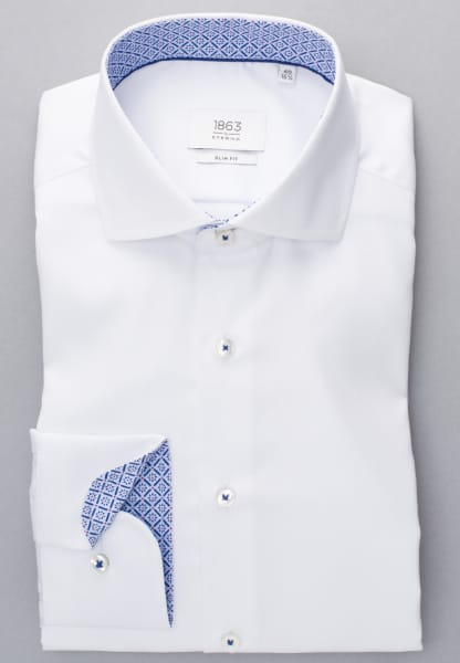 ETERNA LANGE ARM HEMD SLIM FIT GENTLE SHIRT TWILL WIT UNI