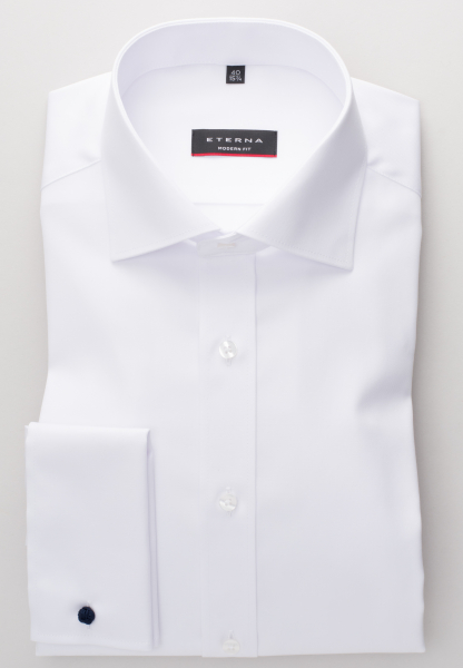 ETERNA LANGE ARM HEMD MODERN FIT COVER SHIRT TWILL WIT UNI