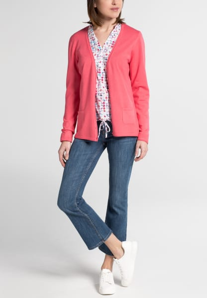 ETERNA GEBREID CARDIGAN FLAMINGO UNI