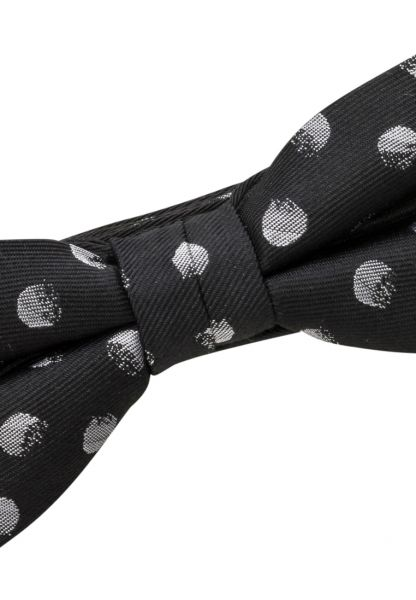 ETERNA BOW TIE BLACK / SILVER GRAY SPOTTED