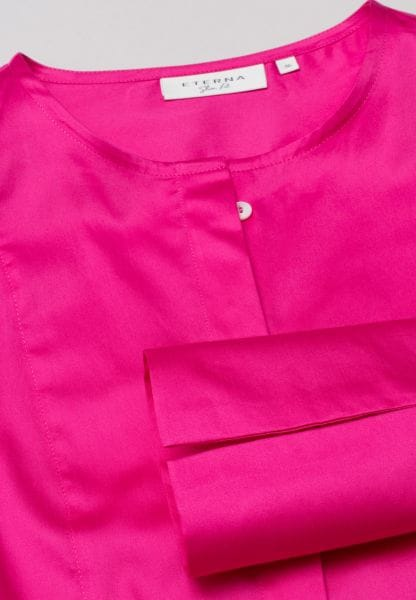 ETERNA LANGE MOUW BLOUSE SLIM FIT ROOD UNI