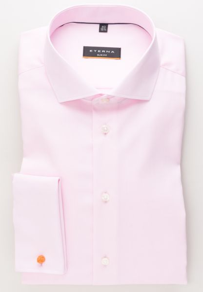 ETERNA LANGE ARM HEMD SLIM FIT PINPOINT ROZE UNI
