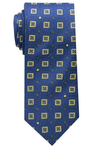 ETERNA TIE BLUE/YELLOW PATTERNED