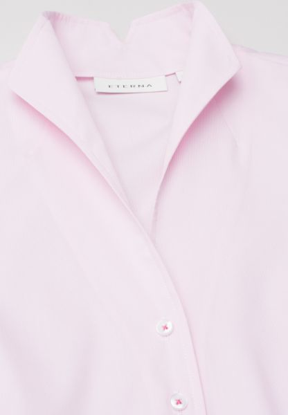 ETERNA ZONDER MOUW BLOUSE MODERN CLASSIC STRETCH ROSE / WIT GESTREEPT