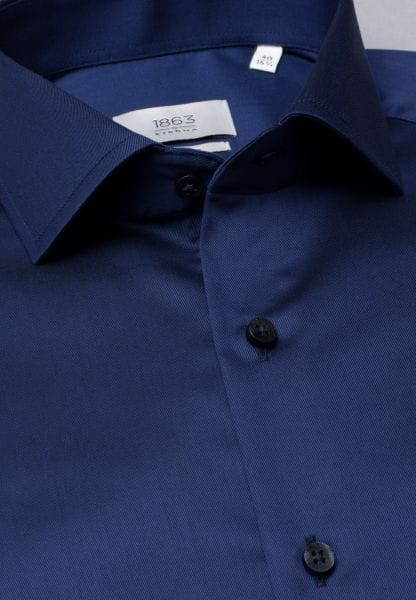 ETERNA LANGE ARM HEMD SLIM FIT GENTLE SHIRT TWILL MARINEBLAUW UNI