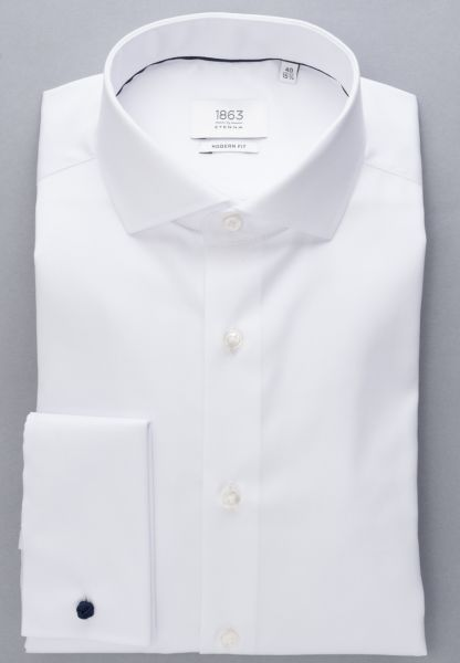 ETERNA LANGE ARM HEMD MODERN FIT GENTLE SHIRT TWILL WIT UNI